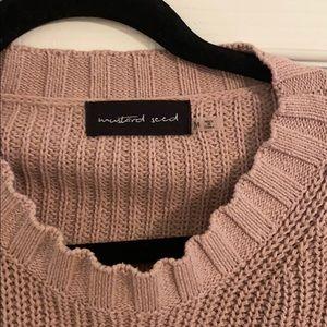 Mustard Seed Sweaters - RP purple puff sleeve sweater.